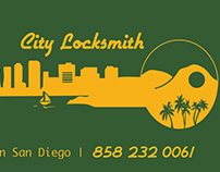 City Locksmith Business Card and Logo