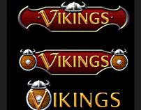 Vikings Slot Game Title Design