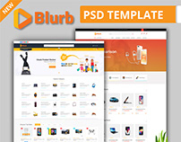 Blurb - Affiliate, Multi vendor Store PSD Template