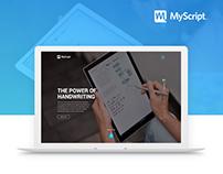 Myscript website redesign concept - UI/UX