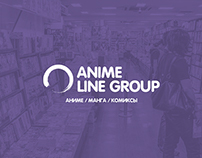 Anime Line Group. Concept website online comics shop