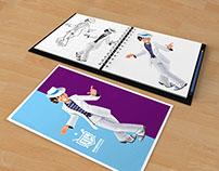 Ilustração de Mascote para Baqueta Clube de Ritmistas