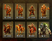 Kings of the Realm: Game UI - Army Management