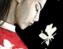 Portada de la novela El viaje de las flores