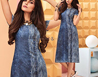 Fashionable Ready To Wear Straight Party Kurtis By DNU