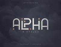 Alpha - Display font   Free Font
