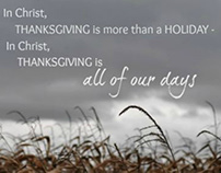 THE THANKFUL HEART IS A GRATEFUL HEART
