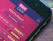 Maxi Cash - app design