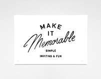 Make it Memorable Print
