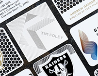 NEW White Metal Business Cards