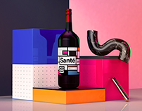 Sante Wine Rebranding Project