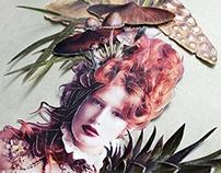 Fungi Fashion - paper collage