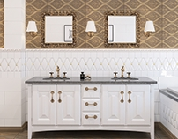 Bathroom in classic style.