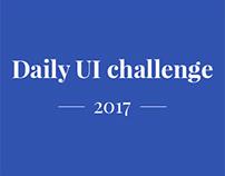 Daily UI challenge - 2017 - Part one/ten