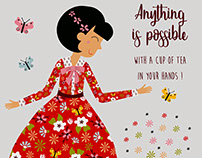 Anything is possible with a cup of tea in your hands...
