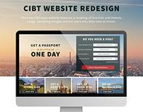 CIBT Website Redesign