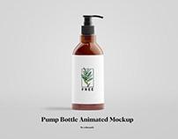 Free Pump Bottle Animated Mockup