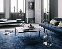 Blue Scandinavian Interior