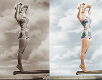 Photo of Marilyn Monroe restored and colorized.