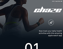 Chaze - Health & Fitness App (Apple Watch Concept)