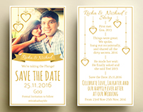 Save the Date for Richa & Nishad