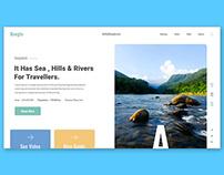 Web UX/UI Prototype Animation - Travel Agency