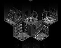 Dark isometric illustration