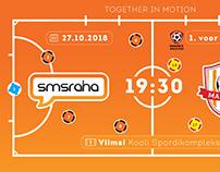 Web design for Futsal club SMSRAHA