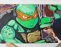 TMNT Mikey (Painting)
