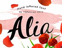 Alia - Hand lettered font