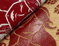 Xilogravura / Woodcut - Desabrochar
