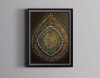 Green dotting mandala