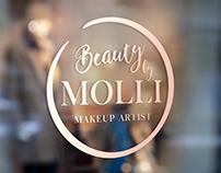 Beauty by Molli logo design