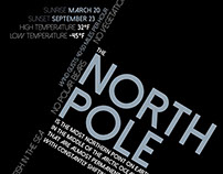 North Pole Informational Poster