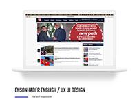 Ensonhaber İngilizce UX - UI Design