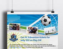 CDA Edmonton FC tickets poster