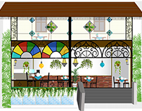 Tobey restaurant exterior & interior decor