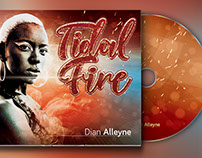 Tidal Fire 4 Panel Digipak CD Artwork Template