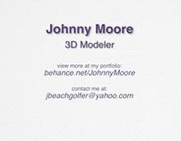 Johnny Moore 3D Modeler Demo Reel