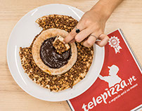 FOOD PHOTOGRAPHY: Chocolat Pizza by TELEPIZZA