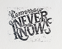 Tomorrow Never Knows Linocut