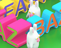 KAZ Easter Bazaar Illustration Poster