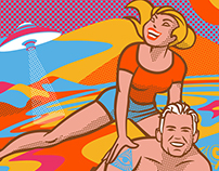 Psychedelic 60s Beach