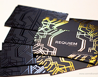 Requiem - Gold Foil Stamped Silk Business Cards