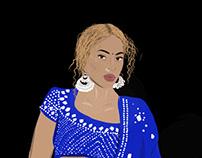 Beyonce in Sonam Kapoor Lengha