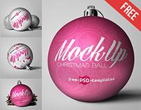 5 Free Christmas Ball Mock-ups
