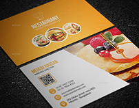 Restaurant Business Card Version 02