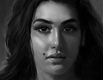 Yasmin Sabry portrait_Value study