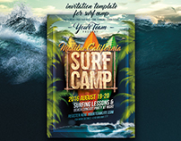 Surf Camp Poster Template