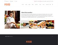 Team Member - Food WordPress Theme